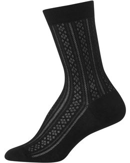 Vertical Diamond Crew Trouser Socks