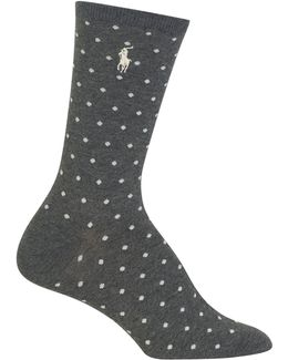 Pindot Crew Trouser Socks