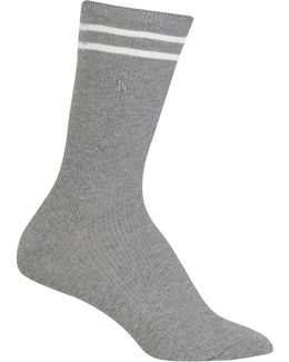 Double Bar Stripe Crew Trouser Socks