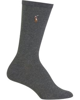 Flat Knit Crew Trouser Socks