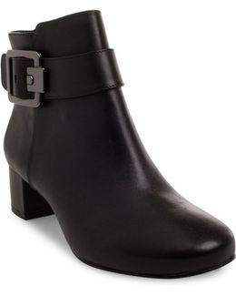 Passe Leather Booties
