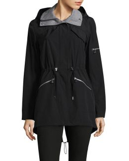 Hooded Poly-fill Anorak