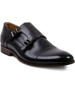 Hayward Leather Double Monk Strap Oxfords