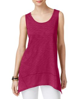 Heathered Slub Jersey Tank Top