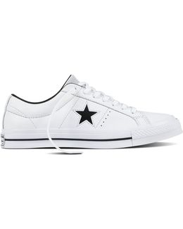 Perforated One Star Leather Low Top Sneakers