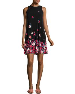 Graphic Floral Sheath