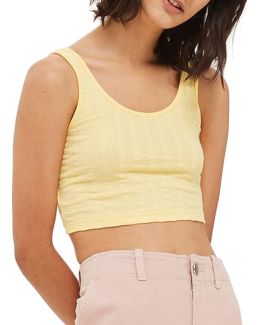 Lulu Ribbed Crop Tank Top