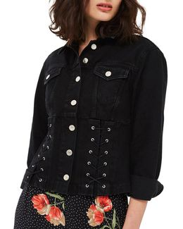 Moto Corset Denim Jacket