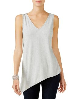 Heathered Asymmetrical Tank Top