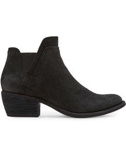 Zabi Stack Block Heel Leather Booties