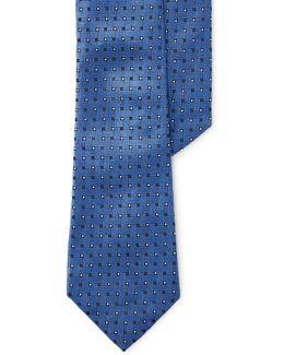 Basketweave Jacquard Silk Tie