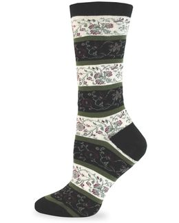 Allover Flower Crew Socks