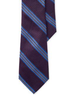 Textured Three-stripe Silk Tie