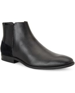 Larry Tumbled Leather Chelsea Boots