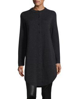 Mandarin Collar Wool Cardigan
