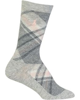 Bias Plaid Crew Boot Socks