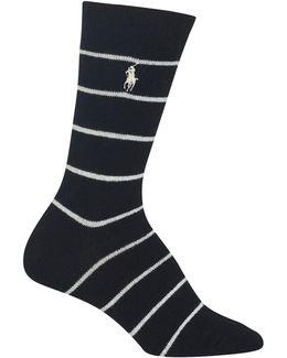St. James Stripe Crew Boot Socks