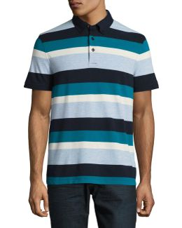 Custom-fit Striped Polo