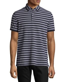 Custom-fit Harry Striped Polo