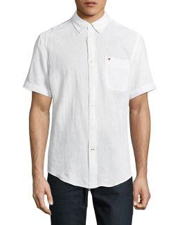 Linen-blend Sport Shirt