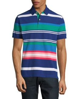 Cotton-linen Stripe Polo