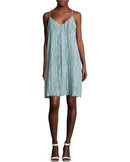 Electric Lines Slip Dress