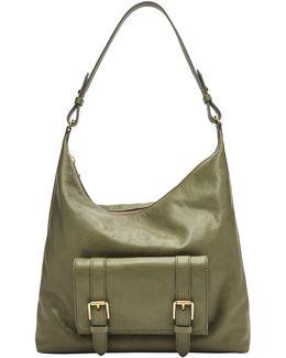 Cleo Leather Hobo Bag