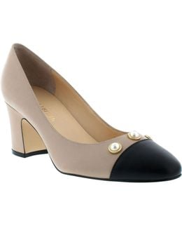 Landri Leather Cap Toe Pumps