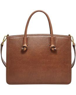 Skylar Pebbled Leather Satchel