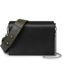 Spacious Leather Box Bag