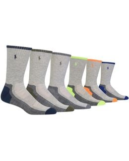 Six-pack Random Feed Heel-toe Crew Sport Socks Set