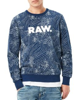 Sk Core Abstract-print Cotton Sweater