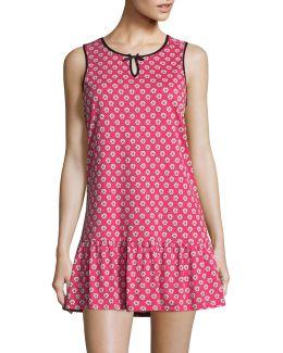 Pink Poppy Jersey Peplum Chemise
