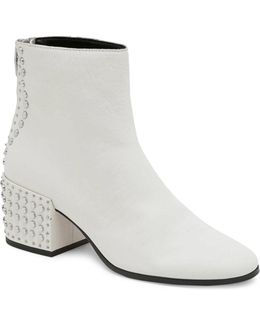 Studded Leather Ankle Boots