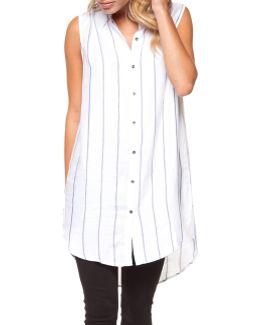 Sleeveless Striped Tunic