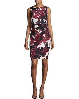 Floral Starburst Sheath Dress