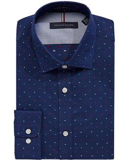 Slim Broadcloth Spot Shirt