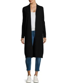 Ebony Cashmere Long Cardigan