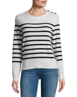 Cashmere Button Shoulder Sweater