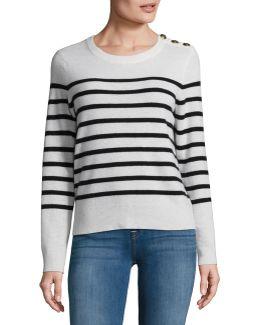 Cashmere Button Shoulder Sweater