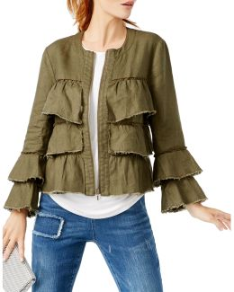 Linen Ruffled Jacket