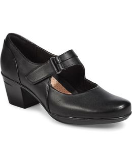 Emslie Leather Mary-jane Shoes