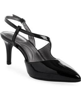 Bando Pointed Toe Patent Heels