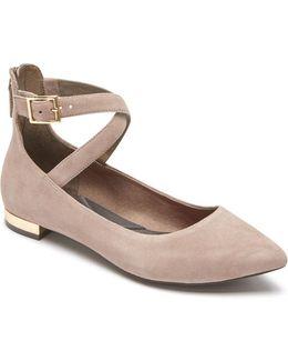 Adelyn Suede Ballet Flats