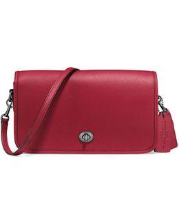 Turnlock Glovetanned Leather Crossbody Bag