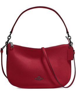 Chelsea Pebble Crossbody Bag Red