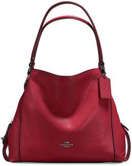 Edie Pebble Leather Shoulder Bag