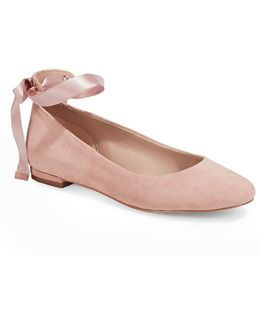 Penelope Leather Ballet Flats