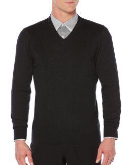 V-neck Textured Sweater