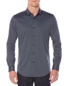 Diamond Print Sport Shirt